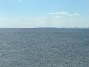 Вдали остров Ольхон-мыс Хобой