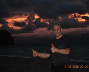 Вечерний закат на Байкале