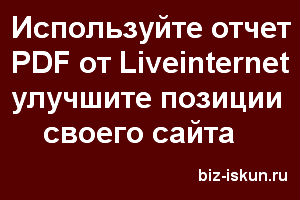 Анализ сайта бесплатно онлайн от Liveinternet