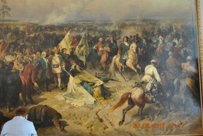 Полтавская битва, картина в эрмитаже