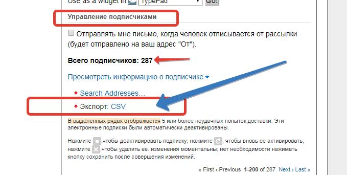 подписчики сайта