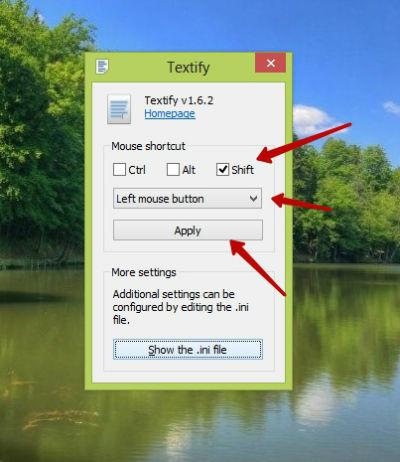 textify как пользоваться
