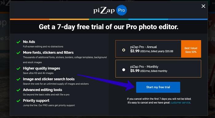 pizap com фотошоп онлайн