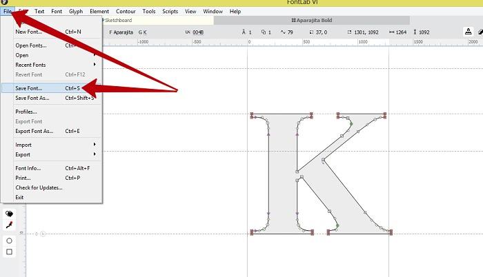 создание шрифтов