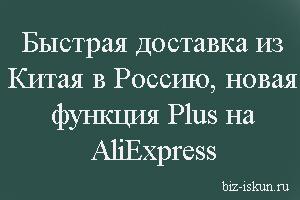 Plus на Aлиэкспресс что это? Быстрая доставка из Китая в Россию