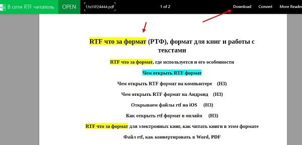 документ РТФ